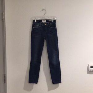 Frame denim Le Skinny De Jeanne blue jeans size 25